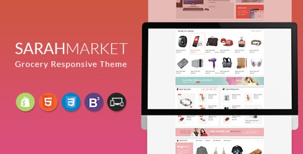 Sarah Market Large Grocery Store BigCommerce Responsive Theme Source: Fresh Link