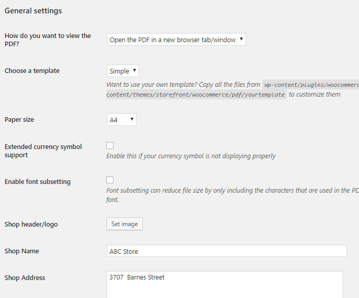 Go to the plugin's Settings page and add details