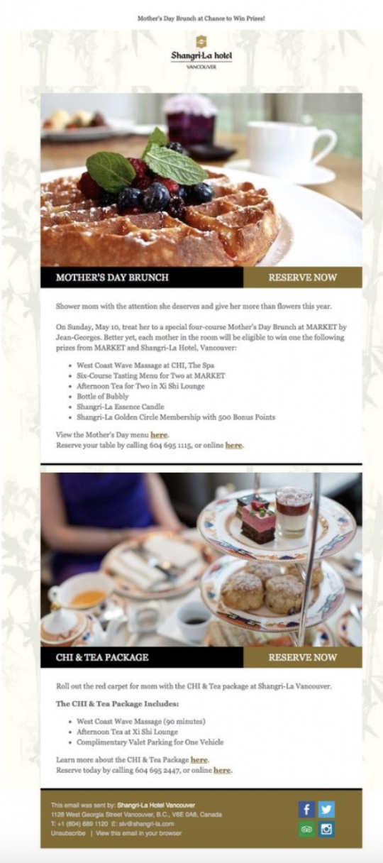 Culinary newsletters