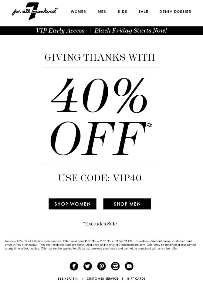 Send out exclusive and targeted holiday offers