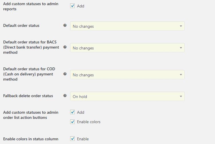 Custom Order Status for WooCommerce