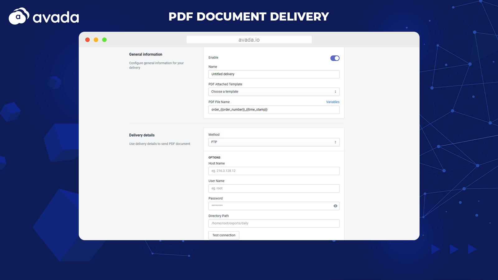 PDF Invoice Delivery