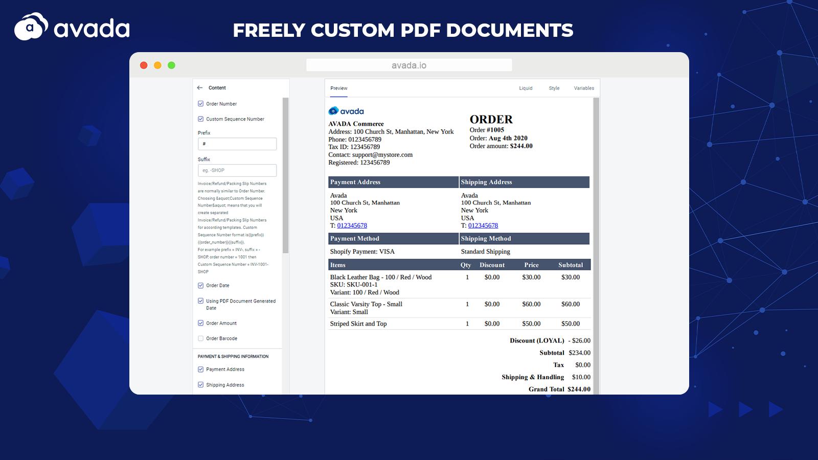 Freely customize PDF templates