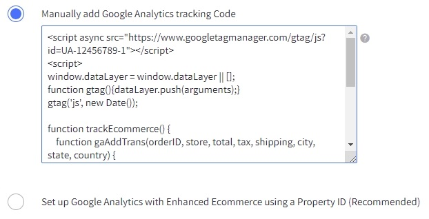 BigCommerce Google Analytics
