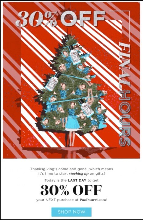 Seasonal campaigns by PooPourri