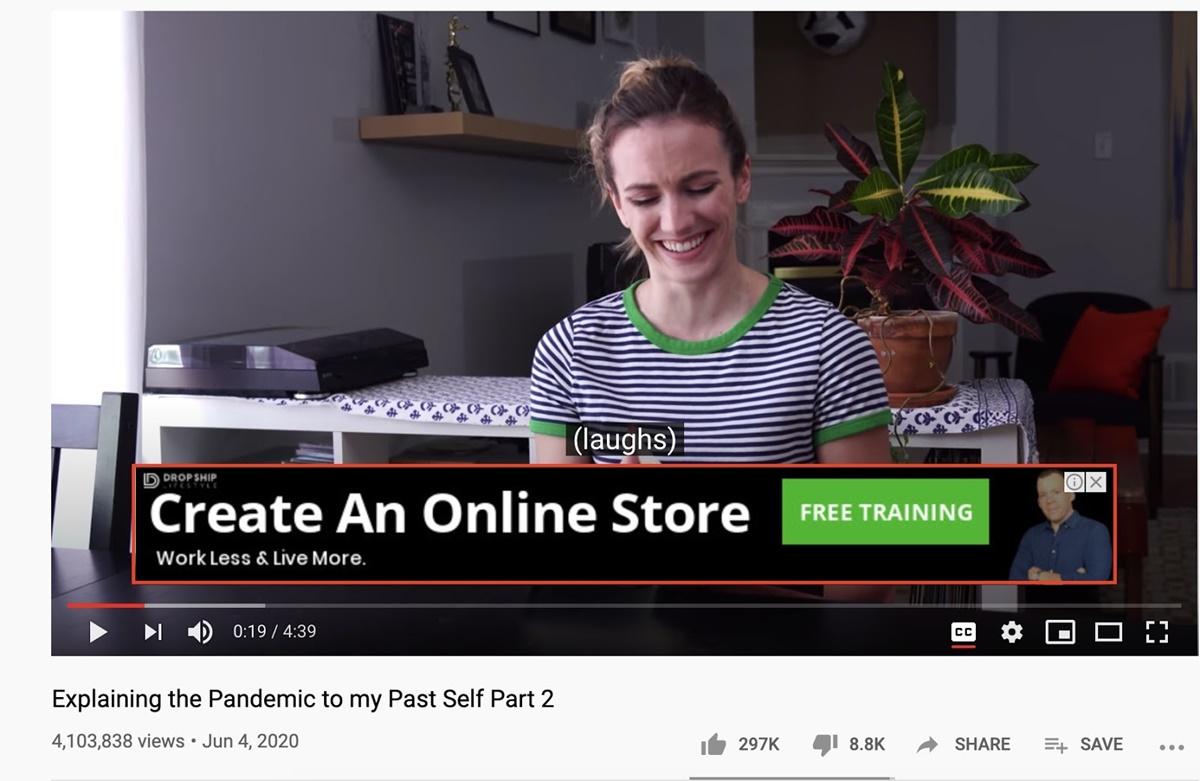 YouTube non-video ads