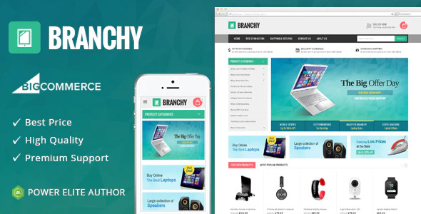 Branchy BigCommerce Theme preview Source: Ecommerce Root