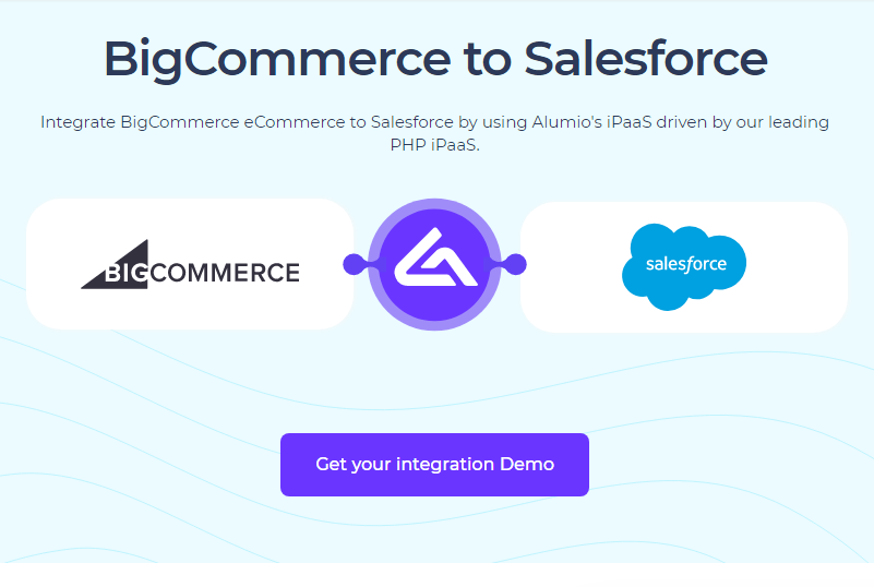 Connecting BigCommerce and Salesforce using Alumio