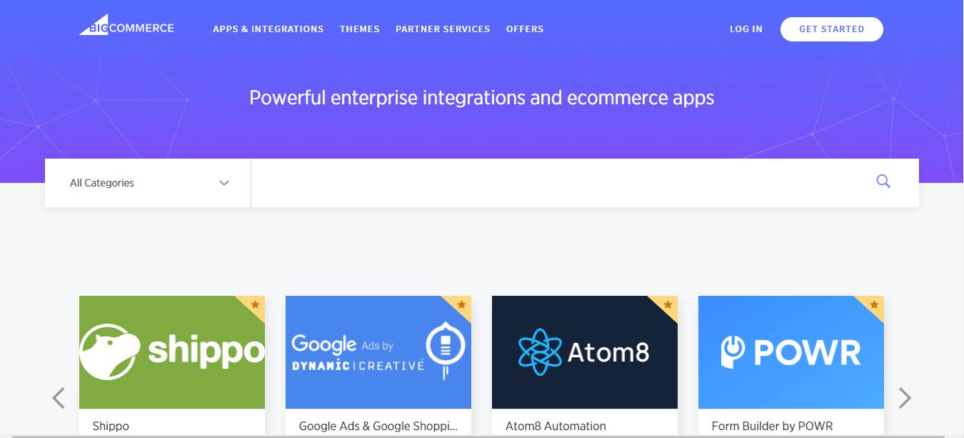 BigCommerce intergrations & Applications