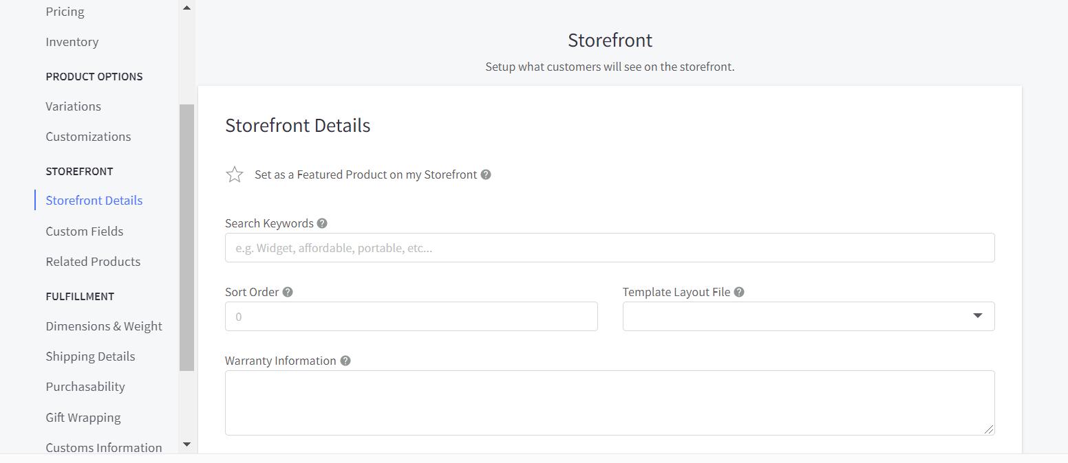 Add storefront information