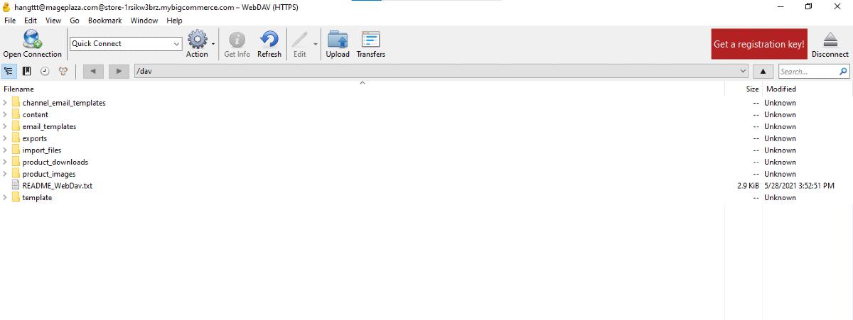 Folders in Cyberduck connection file