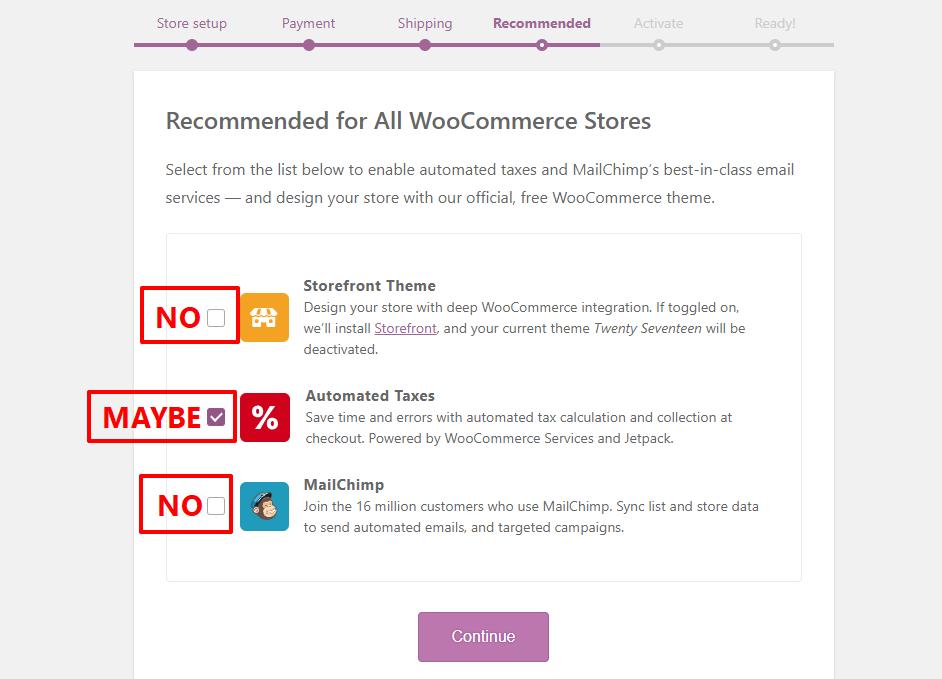 Configure WooCommerce