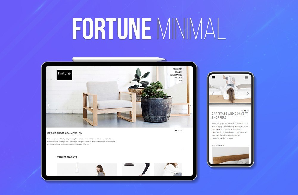 Fortune BigCommerce Theme preview Source: Sbilar