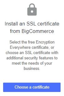 Choose a certificate