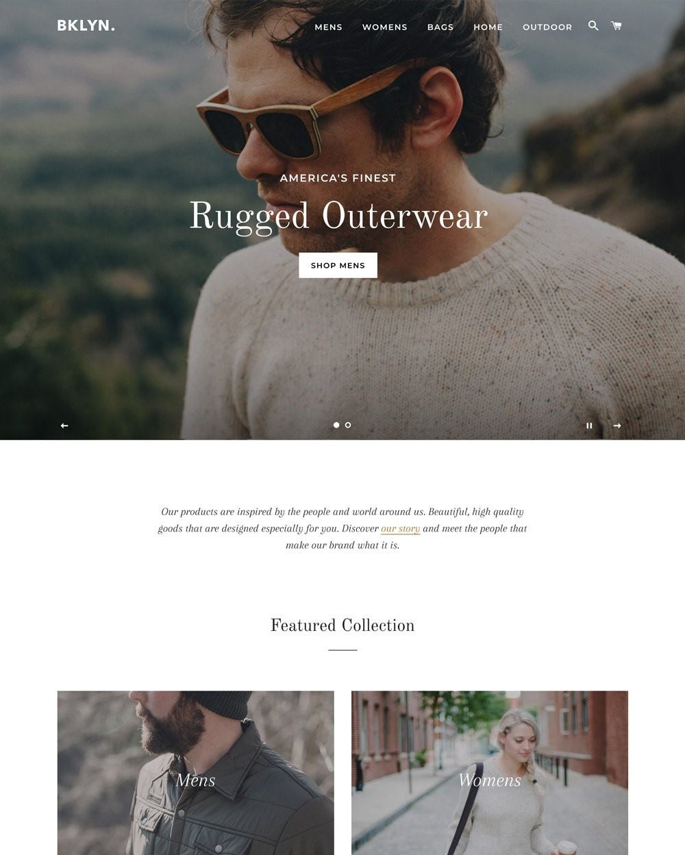 Brooklynk BigCommerce Theme preview Source: Shopify