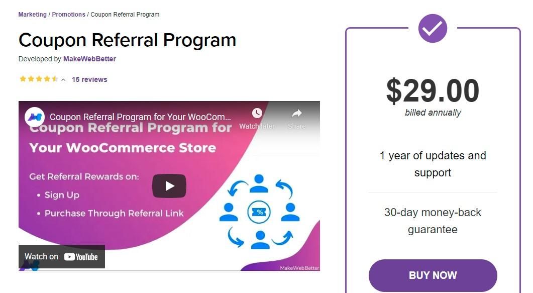 WooCommerce Coupon Referral Program