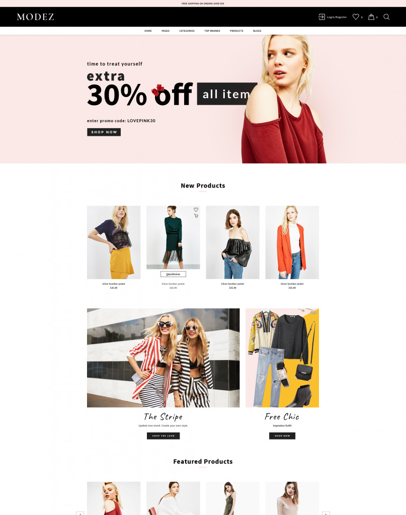 Lookz BigCommerce Theme preview Source: Magento Themes