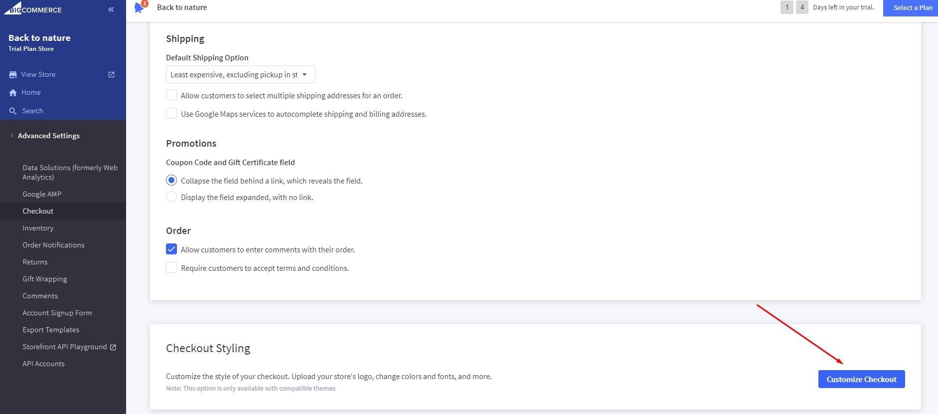 Setting Up BigCommerce One-Page Checkout