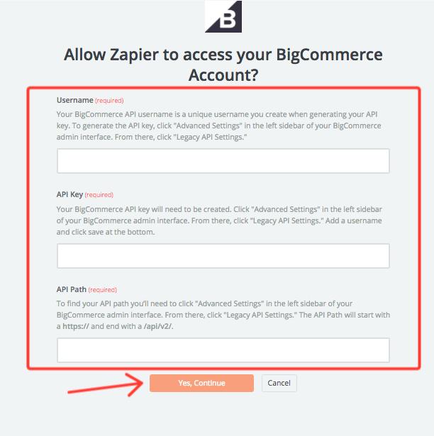 set up the BigCommerce trigger