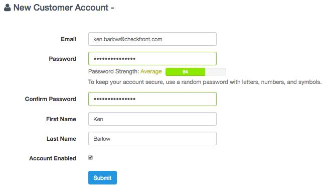 Need of a customer login page