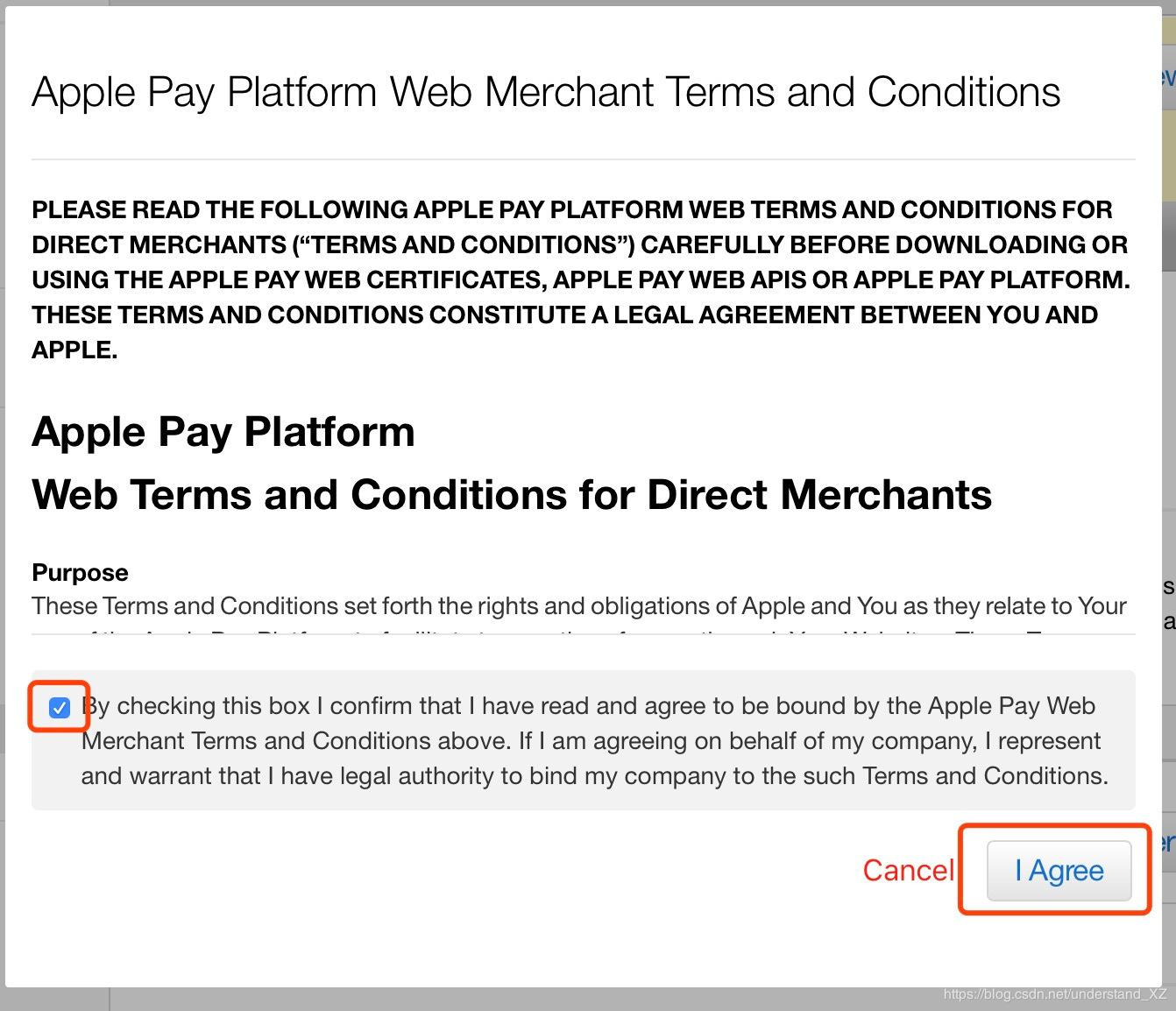 Accept Apple's Terms of Service and you're done