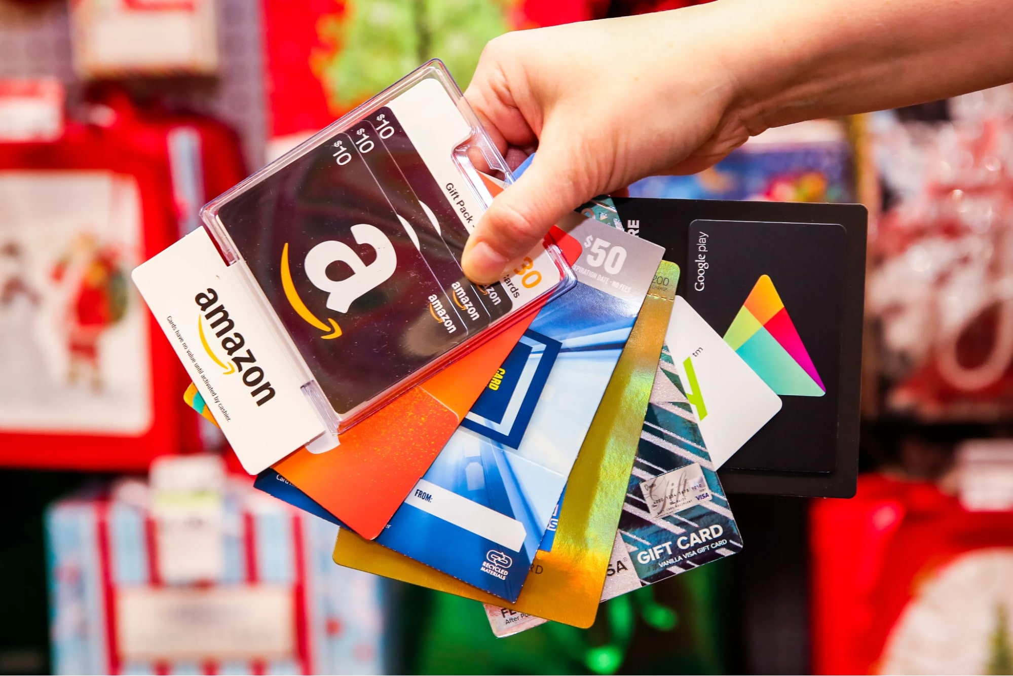 Promote gift cards