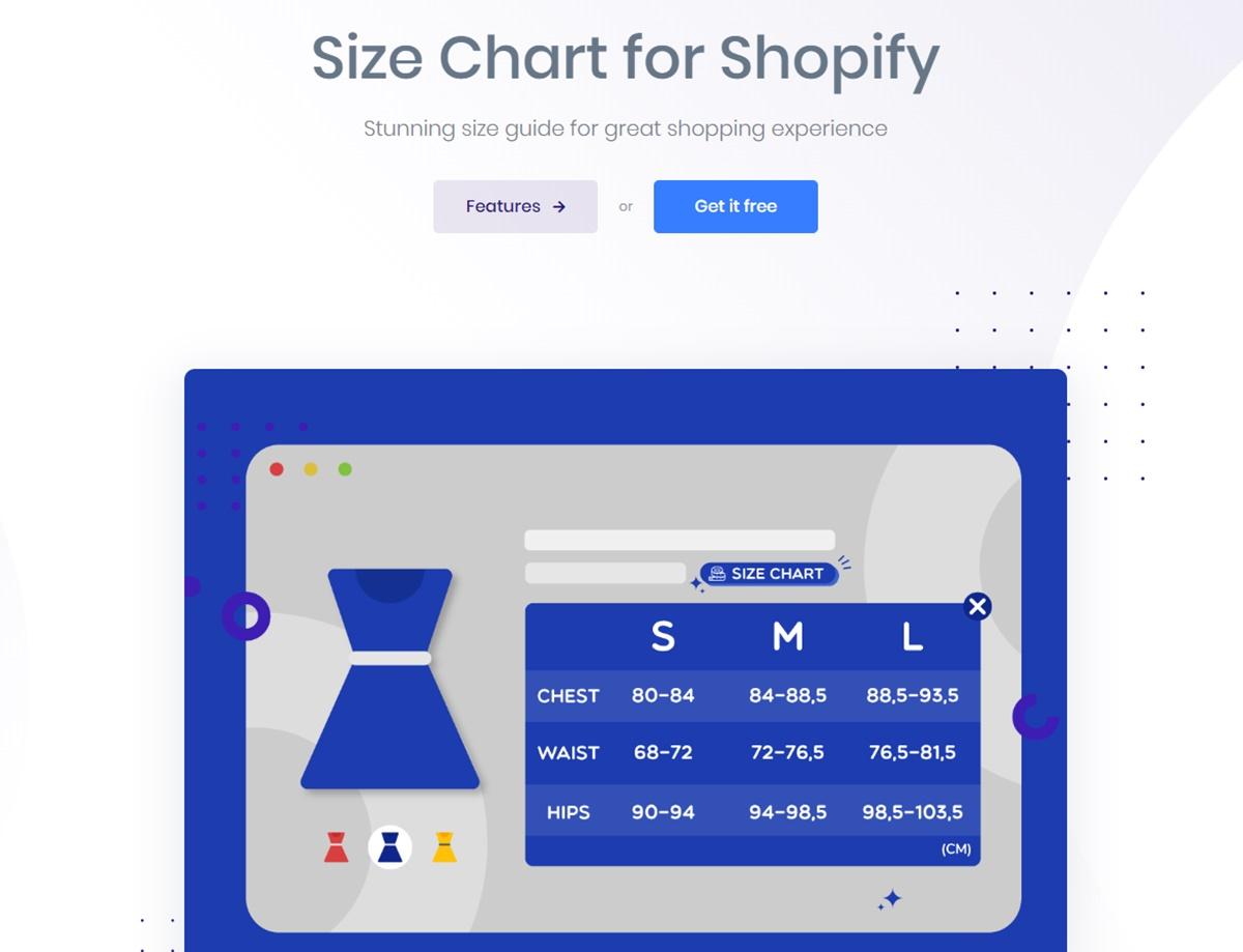 AVADA Size Chart - Size chart popup