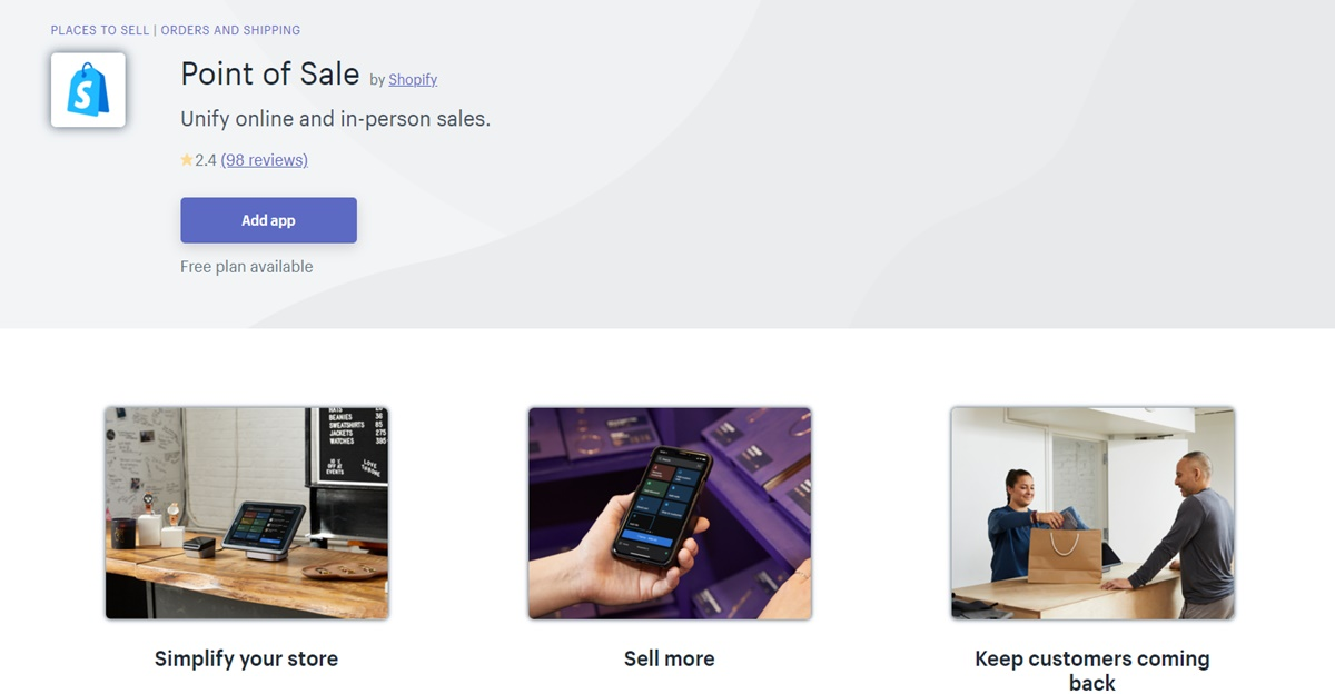 Point of Sale - In-person sales