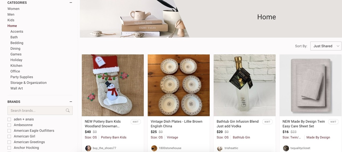 Home products on Poshmark