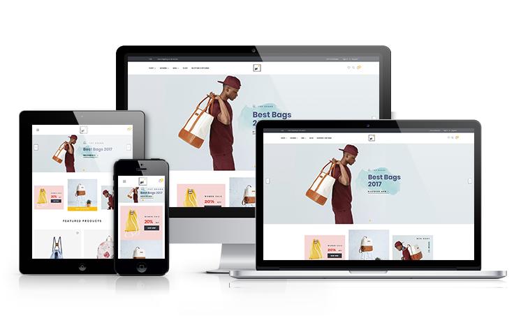Pi Bags BigCommerce Theme preview Source: Apollotheme