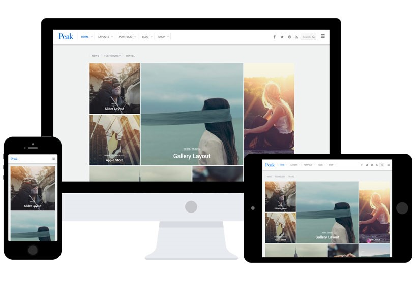 Peak Standard BigCommerce Theme preview Source: Themify