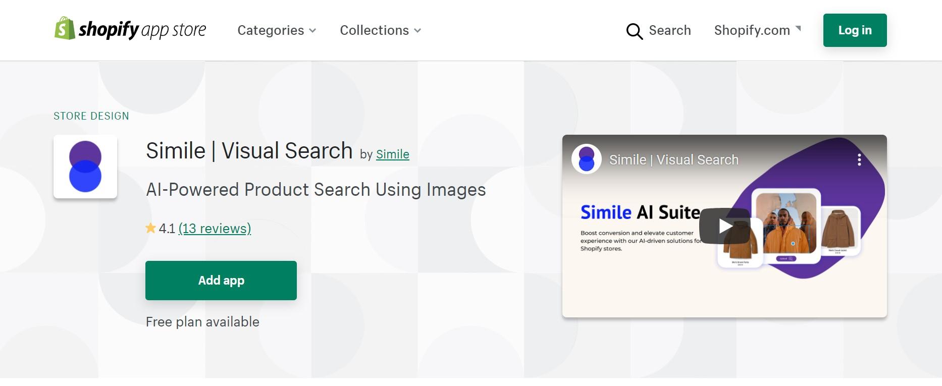 Simile - Smart Visual Search