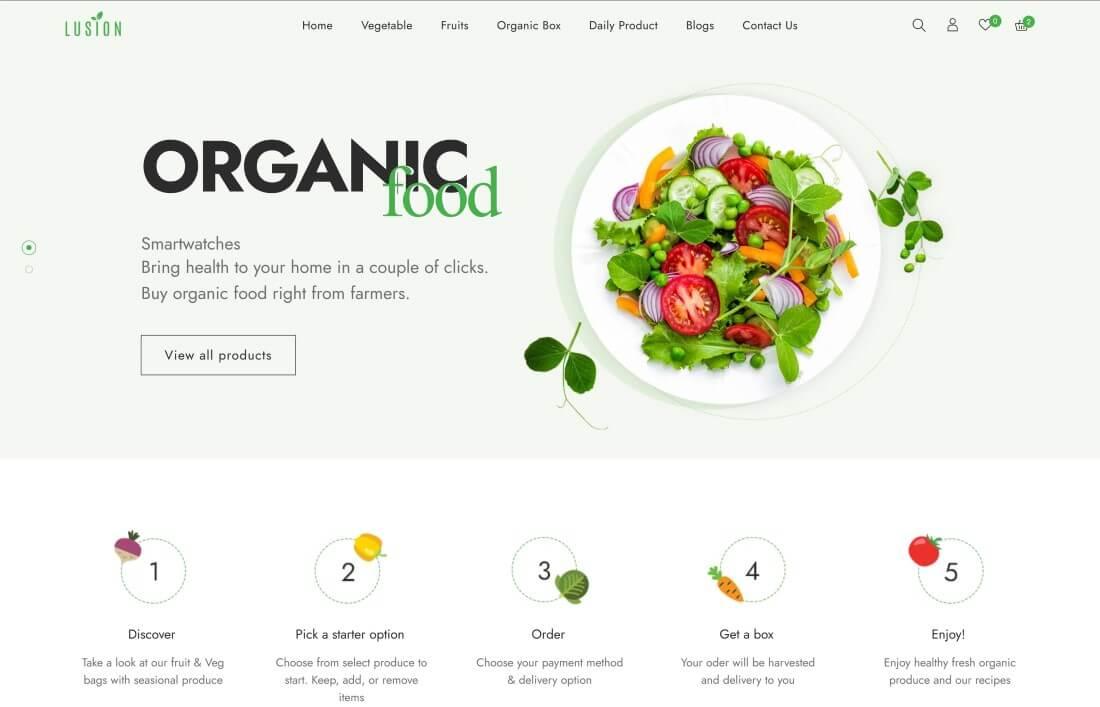 Shopify Organic Store Themes