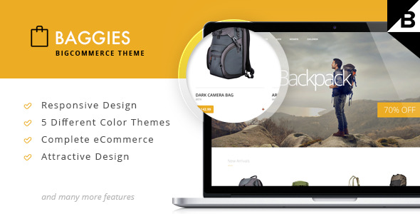 Baggies BigCommerce Theme preview Source: ThemeSlide