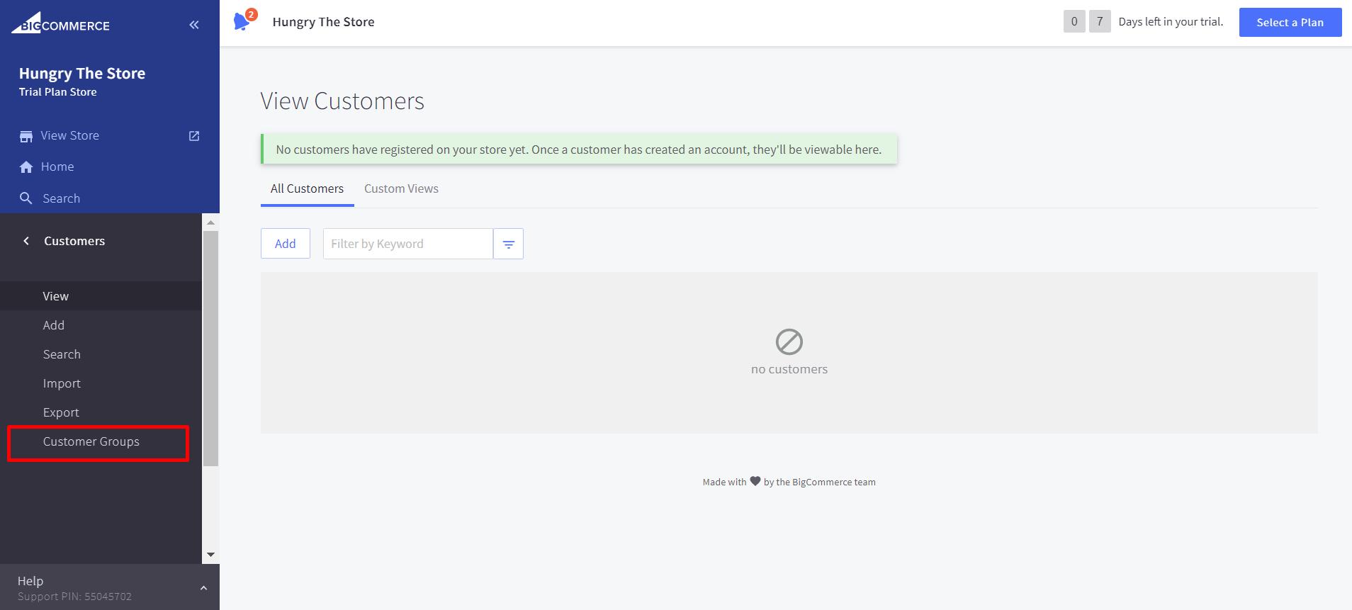 "Select ""Customer Groups"""