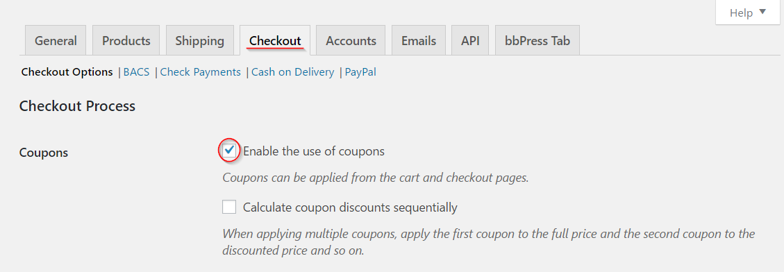 Step 1: Enable a coupon
