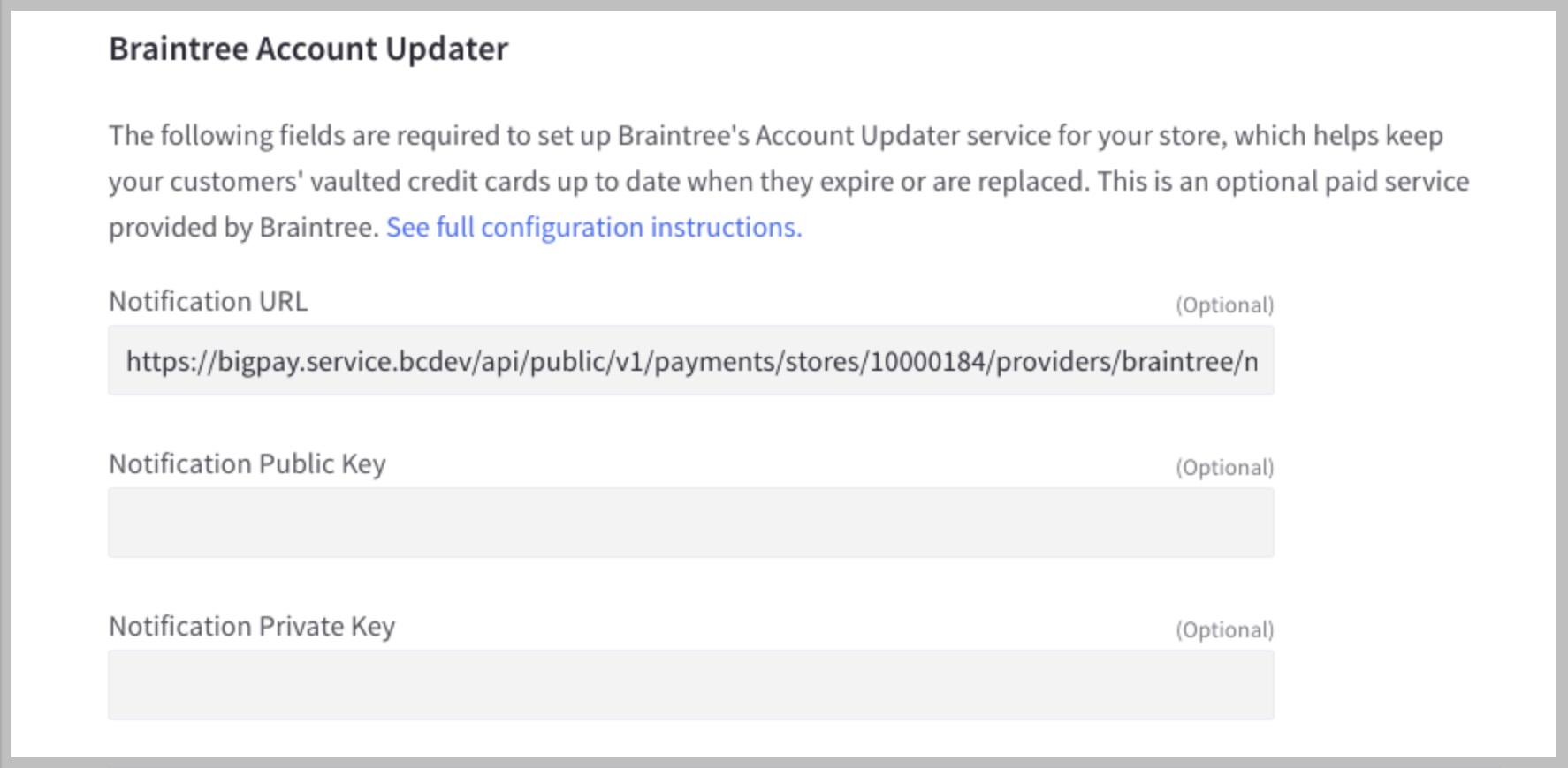 Braintree Account Updater