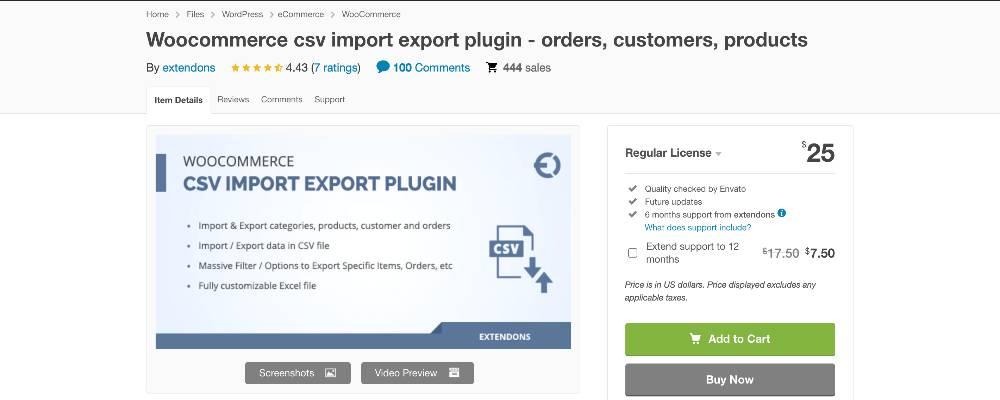 WooCommerce CSV Import Export Plugin
