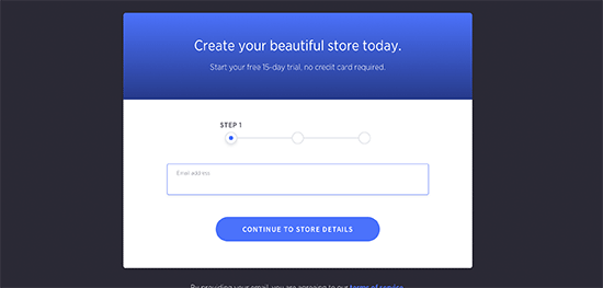 """Go to the BigCommerce homepage and click on """"Get Started"""" to start a trial plan"""