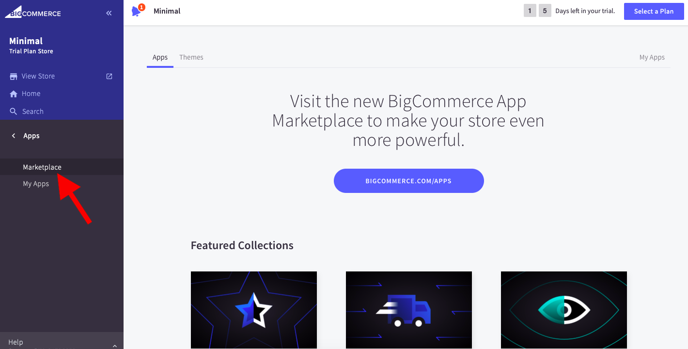 Locate the Clover POS in BigCommerce app marketplace