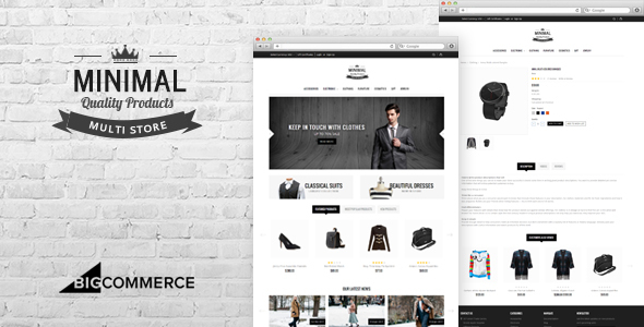 Minimal BigCommerce Theme preview Source: FreshLink