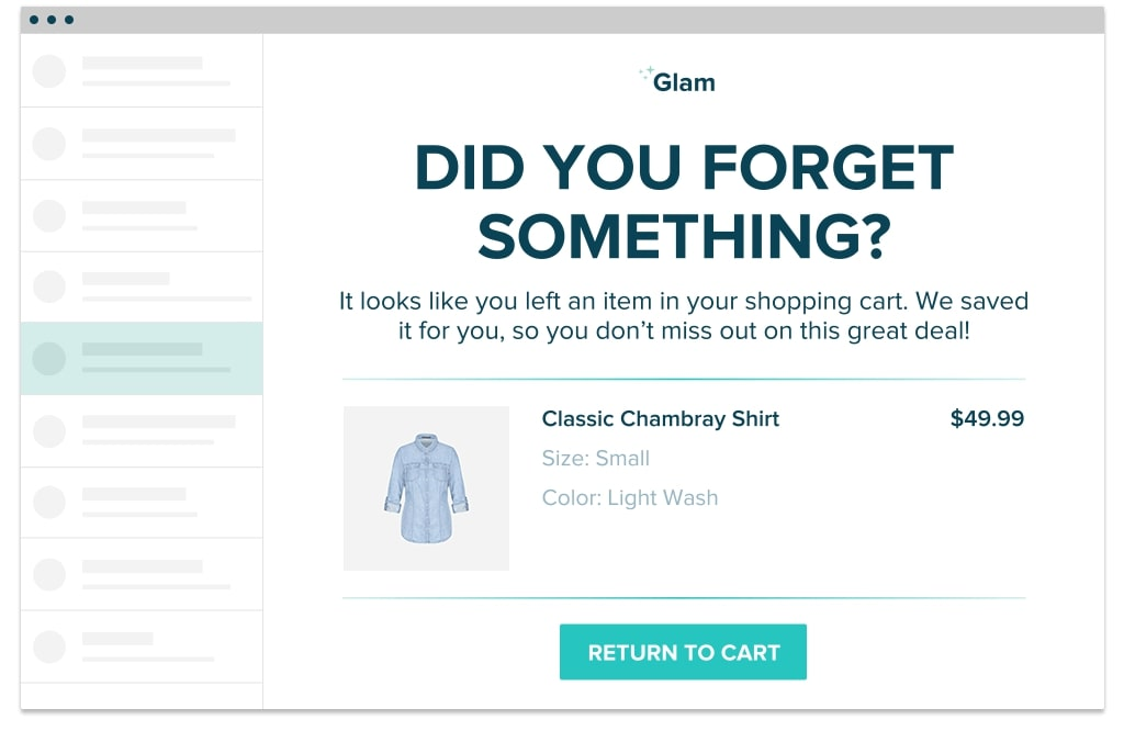 What is an abandoned cart email for BigCommerce?
