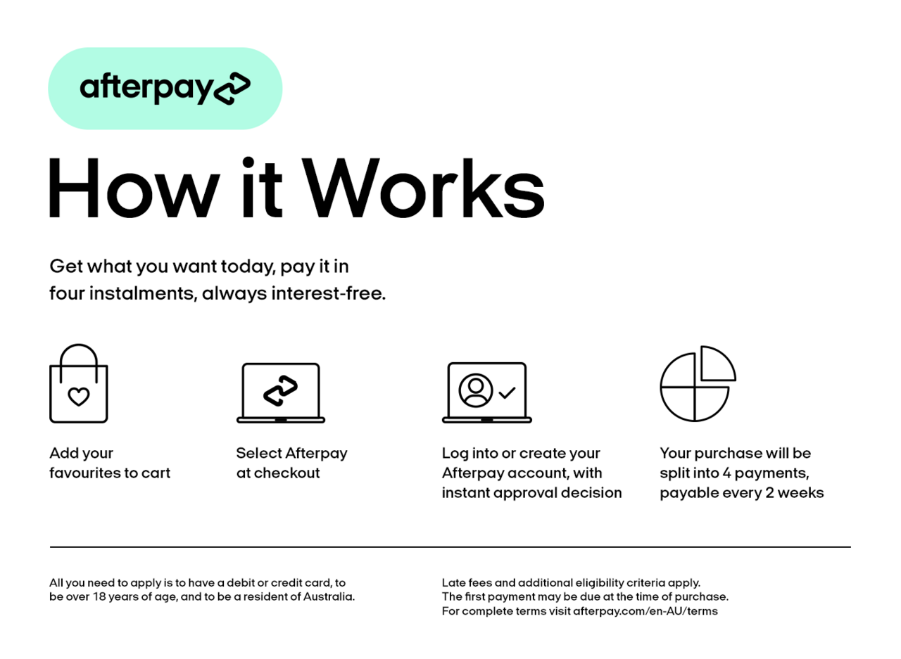 How Afterpay works Source: Scooter Hut