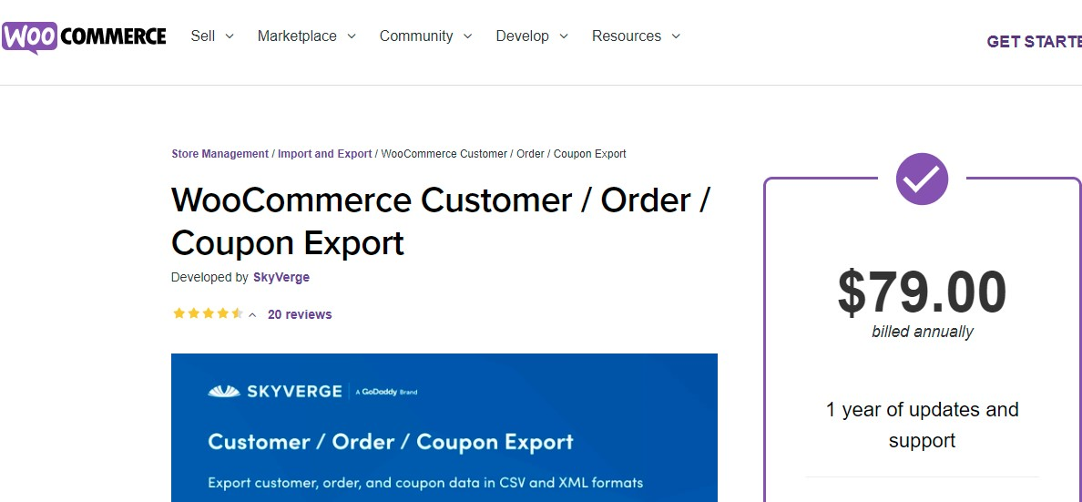 WooCommerce Customer/ Order/ Coupon Export by SkyVerge