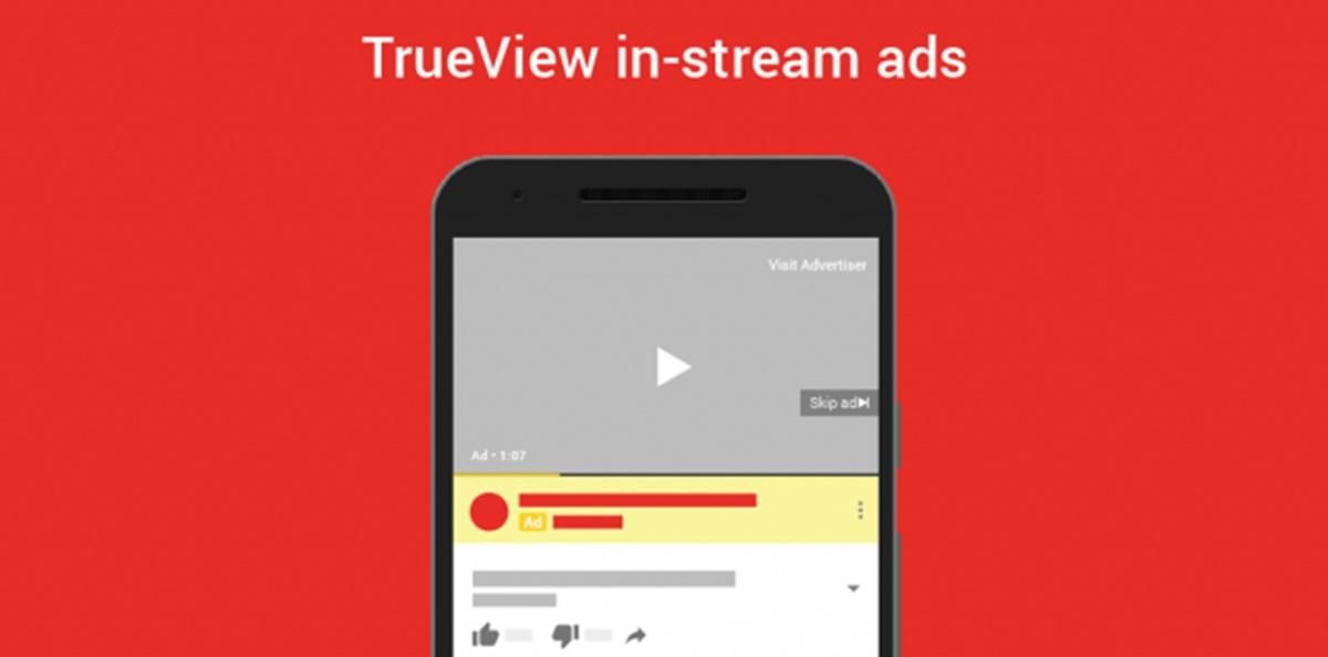 YouTube Trueview in-stream ads