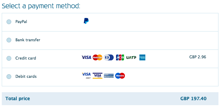 Common Payment Methods for BigCommerce Shopping Cart